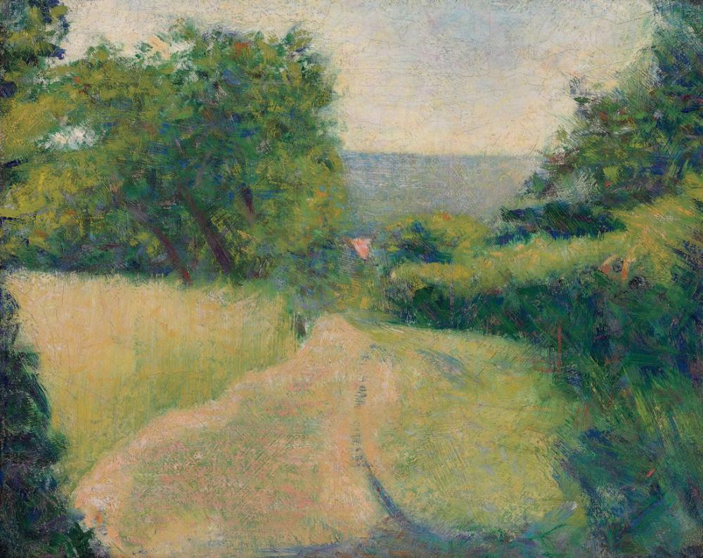Georges Seurat, le chemin creux, Canvas, Georges Seurat, kanvas tablo, canvas print sales