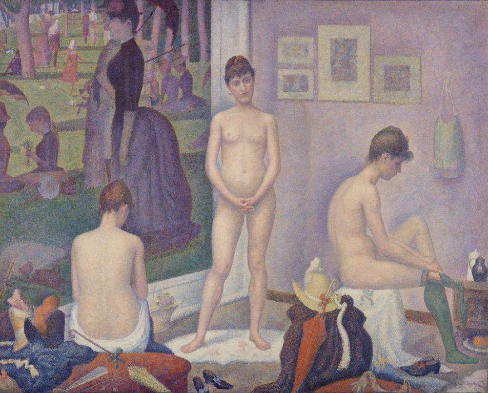 Georges Seurat, Models, Canvas, Georges Seurat, kanvas tablo, canvas print sales