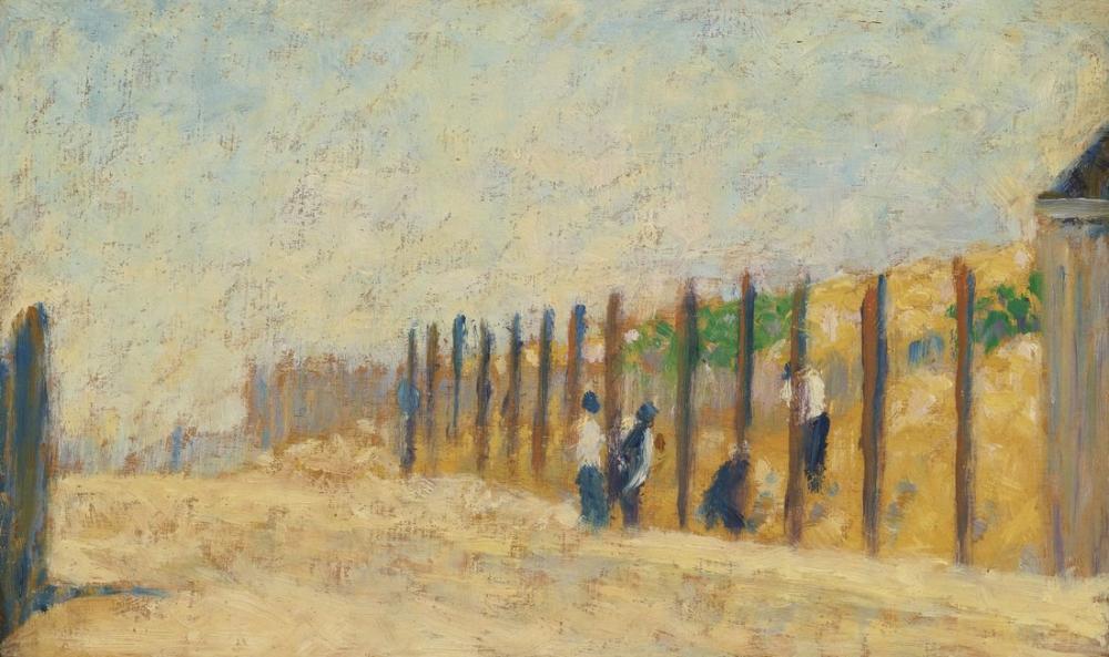 Georges Seurat, Kazık Çakan İşçiler, Figür, Georges Seurat, kanvas tablo, canvas print sales
