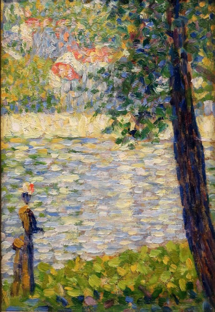 Georges Seurat, Sabah Yürüyüşü, Figür, Georges Seurat, kanvas tablo, canvas print sales