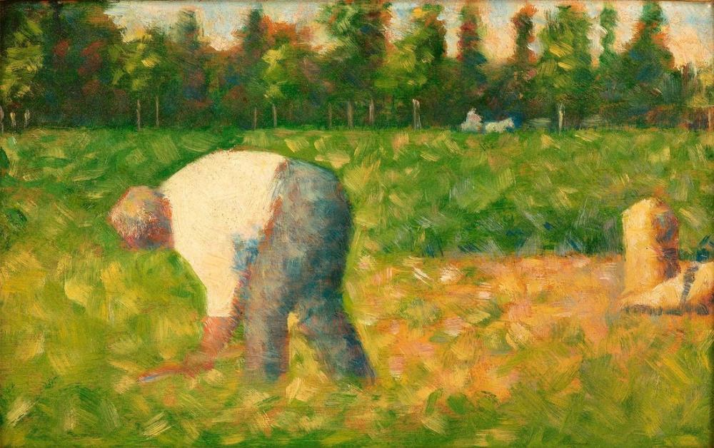 Georges Seurat, Paysan Travaillant, Canvas, Georges Seurat, kanvas tablo, canvas print sales