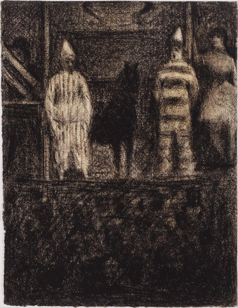 Georges Seurat, Pierre Sidewalk Show, Figure, Georges Seurat, kanvas tablo, canvas print sales