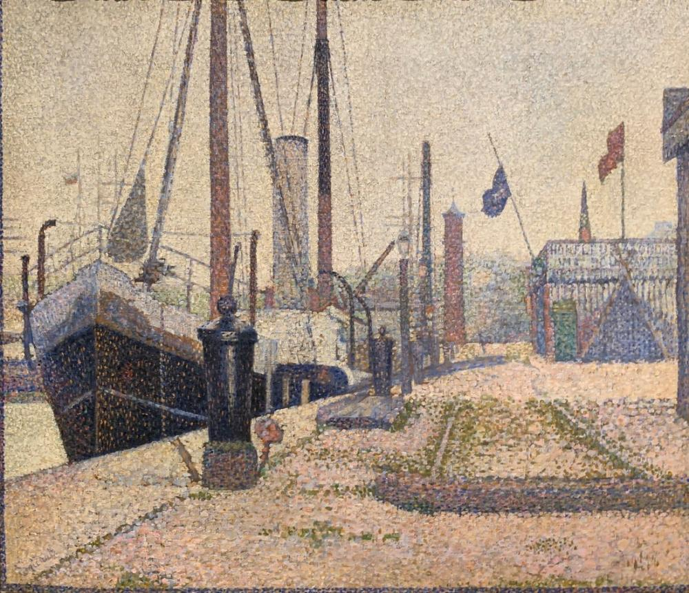 Georges Seurat, Port d Honfleur, Canvas, Georges Seurat, kanvas tablo, canvas print sales