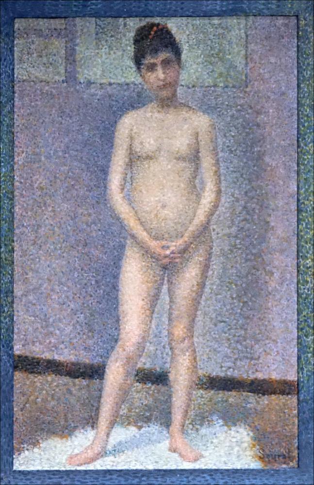 Georges Seurat, Ön Katman, Figür, Georges Seurat, kanvas tablo, canvas print sales