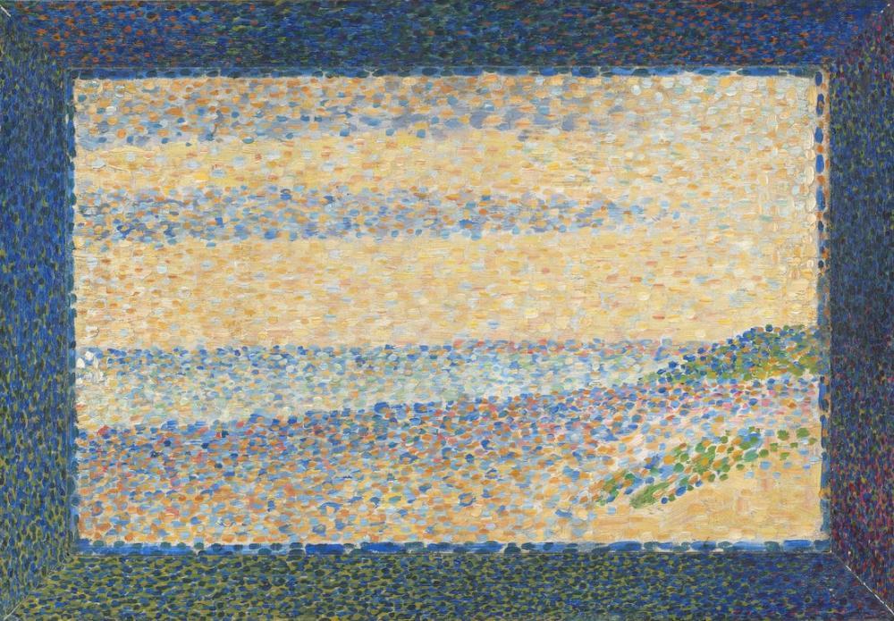 Georges Seurat, Seascape Gravelines, Canvas, Georges Seurat, kanvas tablo, canvas print sales