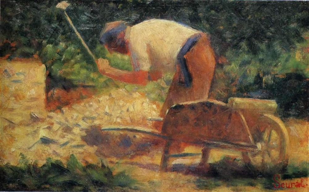 Georges Seurat, Taş Kırıcı, Kanvas Tablo, Georges Seurat, kanvas tablo, canvas print sales