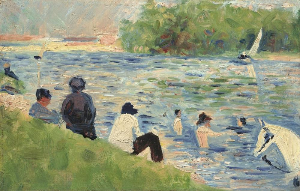 Georges Seurat, Study Bathers at Asnieres, Canvas, Georges Seurat