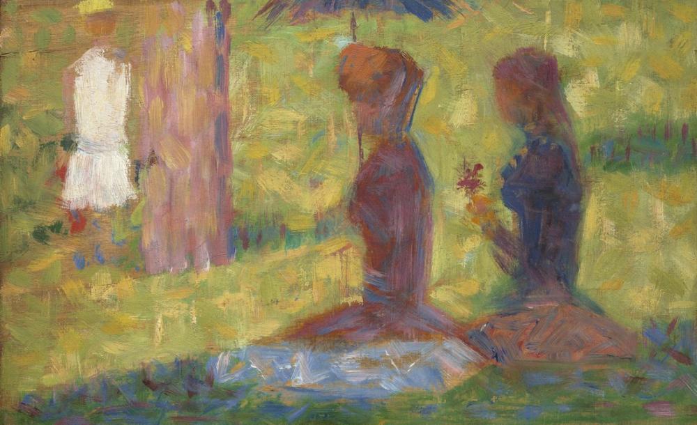 Georges Seurat, Study of Figures for La Grande Jatte, Figure, Georges Seurat, kanvas tablo, canvas print sales