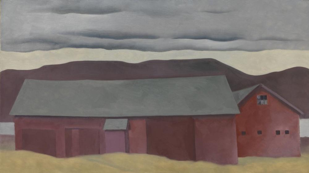 Georgia O Keeffe, Barns, Canvas, Georgia O Keeffe, kanvas tablo, canvas print sales