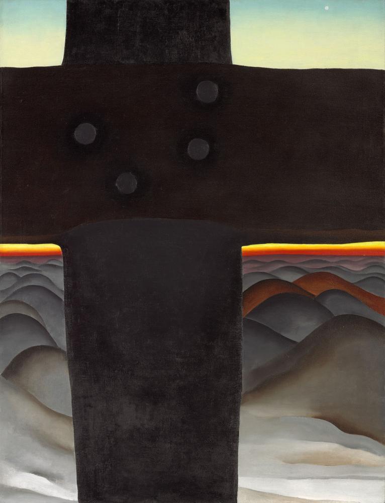 Georgia O Keeffe, Black Cross New Mexico, Canvas, Georgia O Keeffe, kanvas tablo, canvas print sales