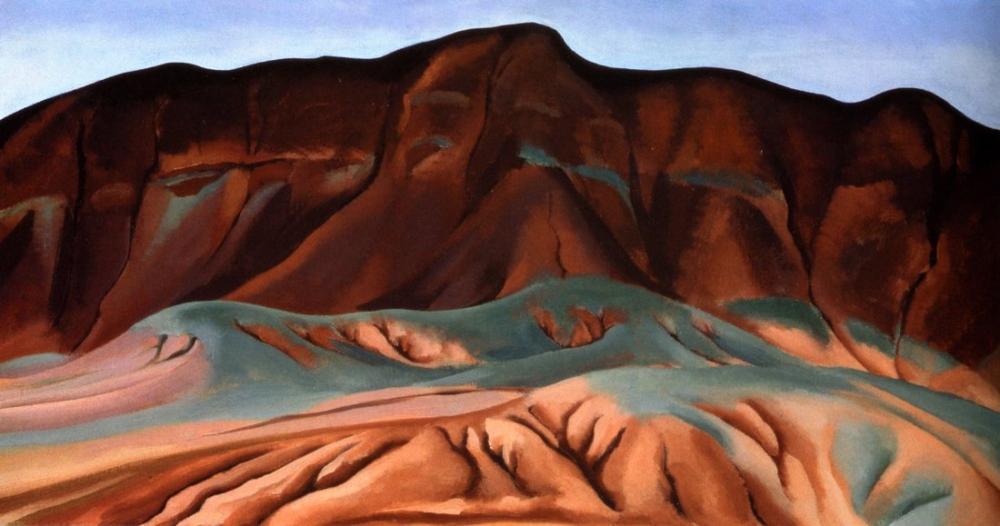 Georgia O Keeffe, Purple Hills, Canvas, Georgia O Keeffe, kanvas tablo, canvas print sales