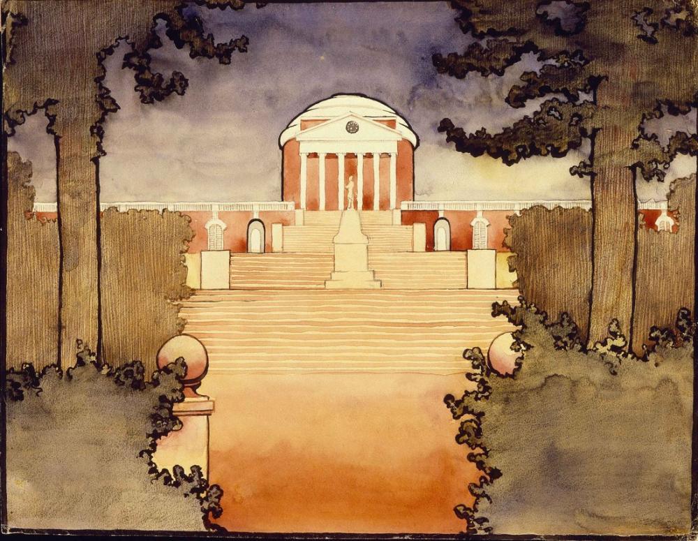 Georgia O Keeffe, Rotunda University of Virginia, Canvas, Georgia O Keeffe, kanvas tablo, canvas print sales