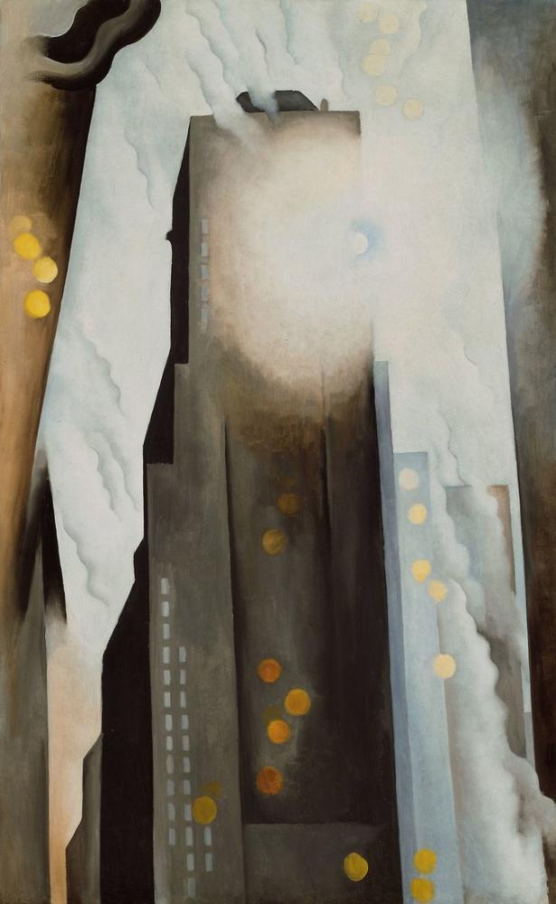 Georgia O Keeffe, The Shelton with Sunspots, NY, Canvas, Georgia O Keeffe, kanvas tablo, canvas print sales