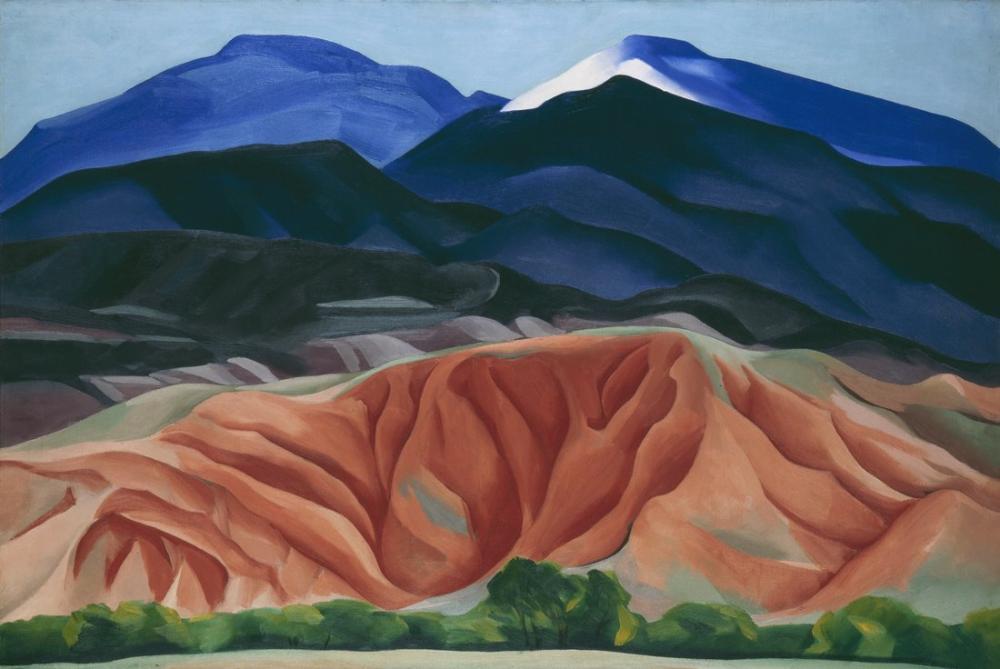 Georgia O Keeffe, Black Mesa Manzara New México, Kanvas Tablo, Georgia O Keeffe, kanvas tablo, canvas print sales
