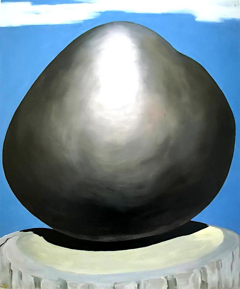 Georgia O Keeffe, Black Rock with Blue Sky and White Clouds, Canvas, Georgia O Keeffe, kanvas tablo, canvas print sales