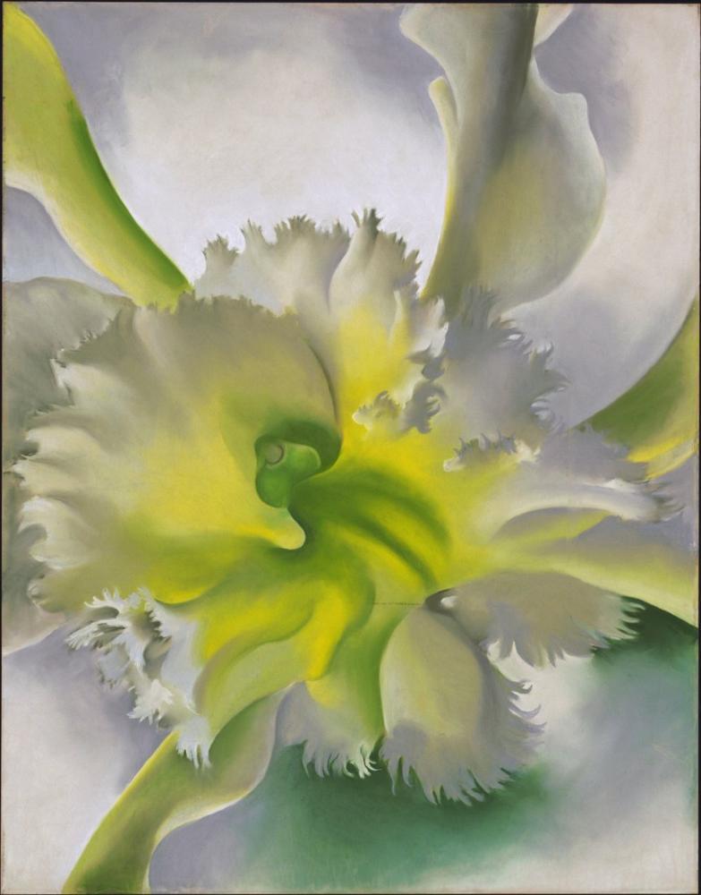 Gürcistan O Keeffe, Orkide, Kanvas Tablo, Georgia O Keeffe, kanvas tablo, canvas print sales