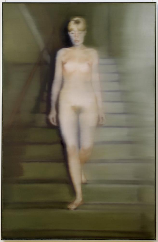 Gerhard Richter, Bir Merdiven Üzerinde Emma Çıplak, 1966, Kanvas Tablo, Gerhard Richter, kanvas tablo, canvas print sales
