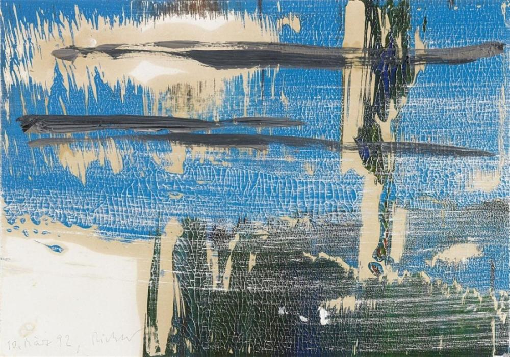 Gerhard Richter, İsimsiz 1992, Kanvas Tablo, Gerhard Richter, kanvas tablo, canvas print sales