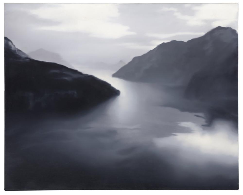 Gerhard Richter, Dört Kanton Gölü, Kanvas Tablo, Gerhard Richter, kanvas tablo, canvas print sales