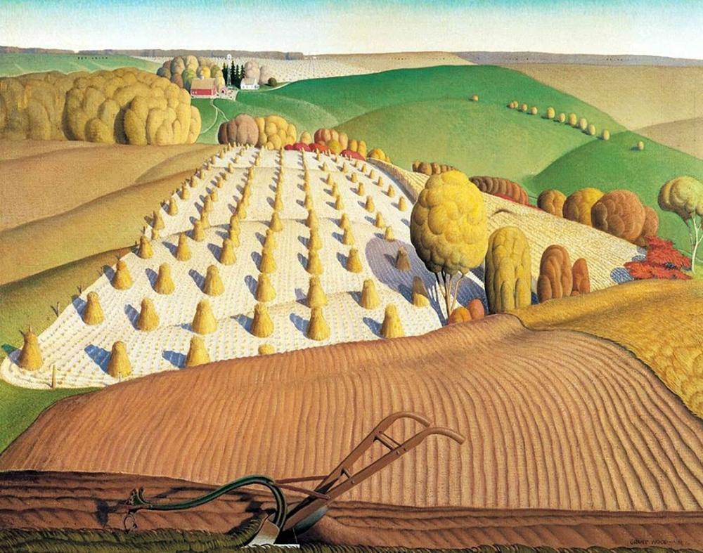 Grant Wood Çiftçilik, Rejyonalizm, Grant Wood, kanvas tablo, canvas print sales