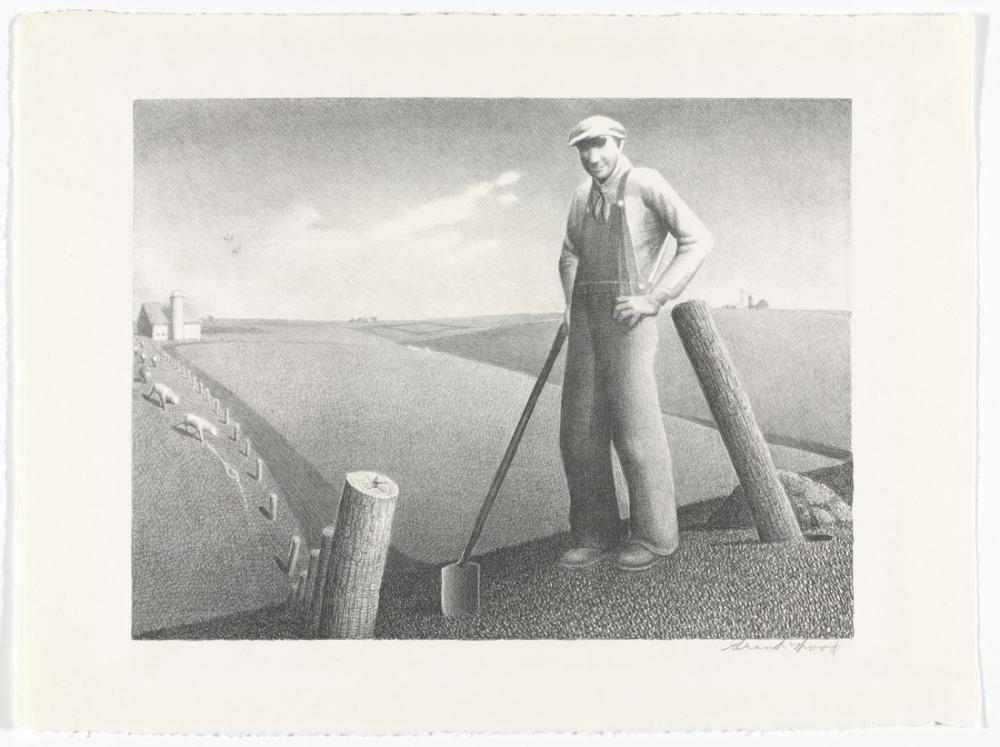 Grant Wood Baharda, Rejyonalizm, Grant Wood, kanvas tablo, canvas print sales