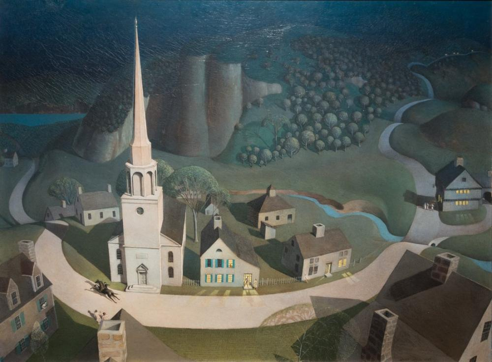 Grant Wood Paul Revere Gece Yarısı Gezisi, Rejyonalizm, Grant Wood, kanvas tablo, canvas print sales