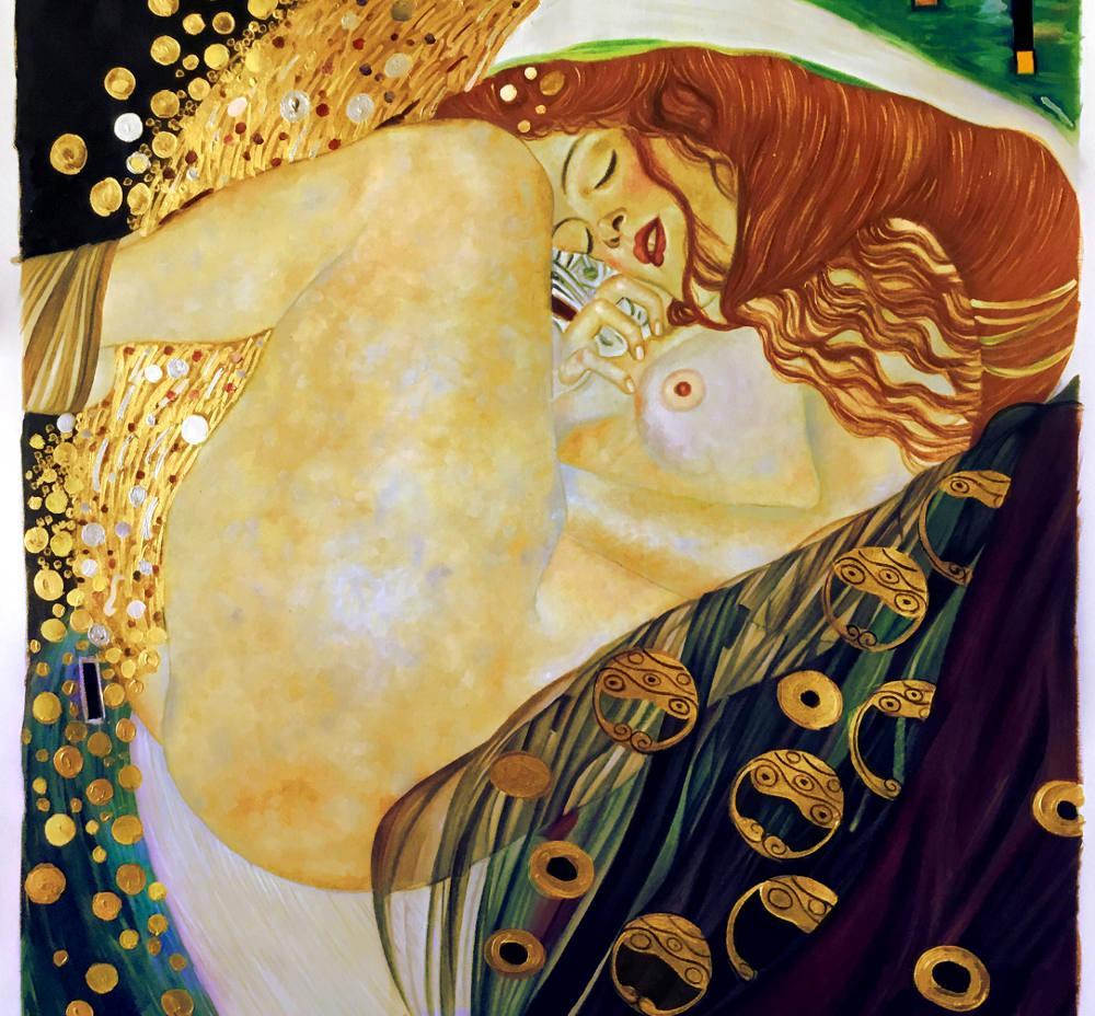 Danaë, Gustav Klimt, Kanvas Tablo, Gustav Klimt, kanvas tablo, canvas print sales