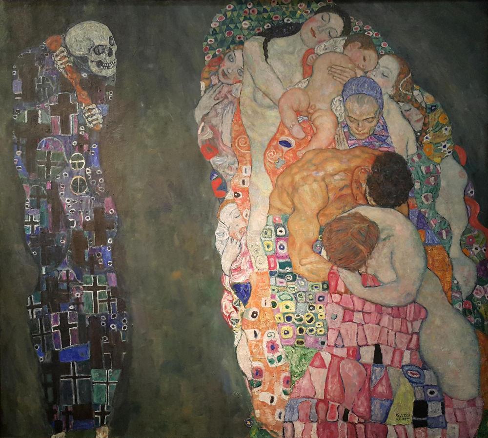 Gustav Klimt, Death and Life, Figure, Gustav Klimt, kanvas tablo, canvas print sales