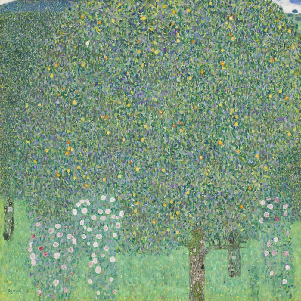 Ağaçlar Altında Güller, Gustav Klimt, Kanvas Tablo, Gustav Klimt, kanvas tablo, canvas print sales