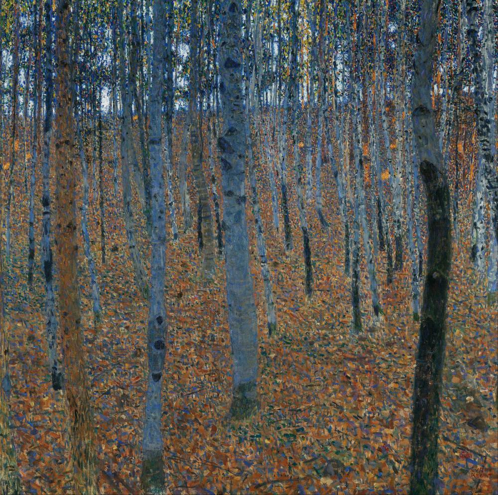 Gustav Klimt, Beech Grove, Canvas, Gustav Klimt