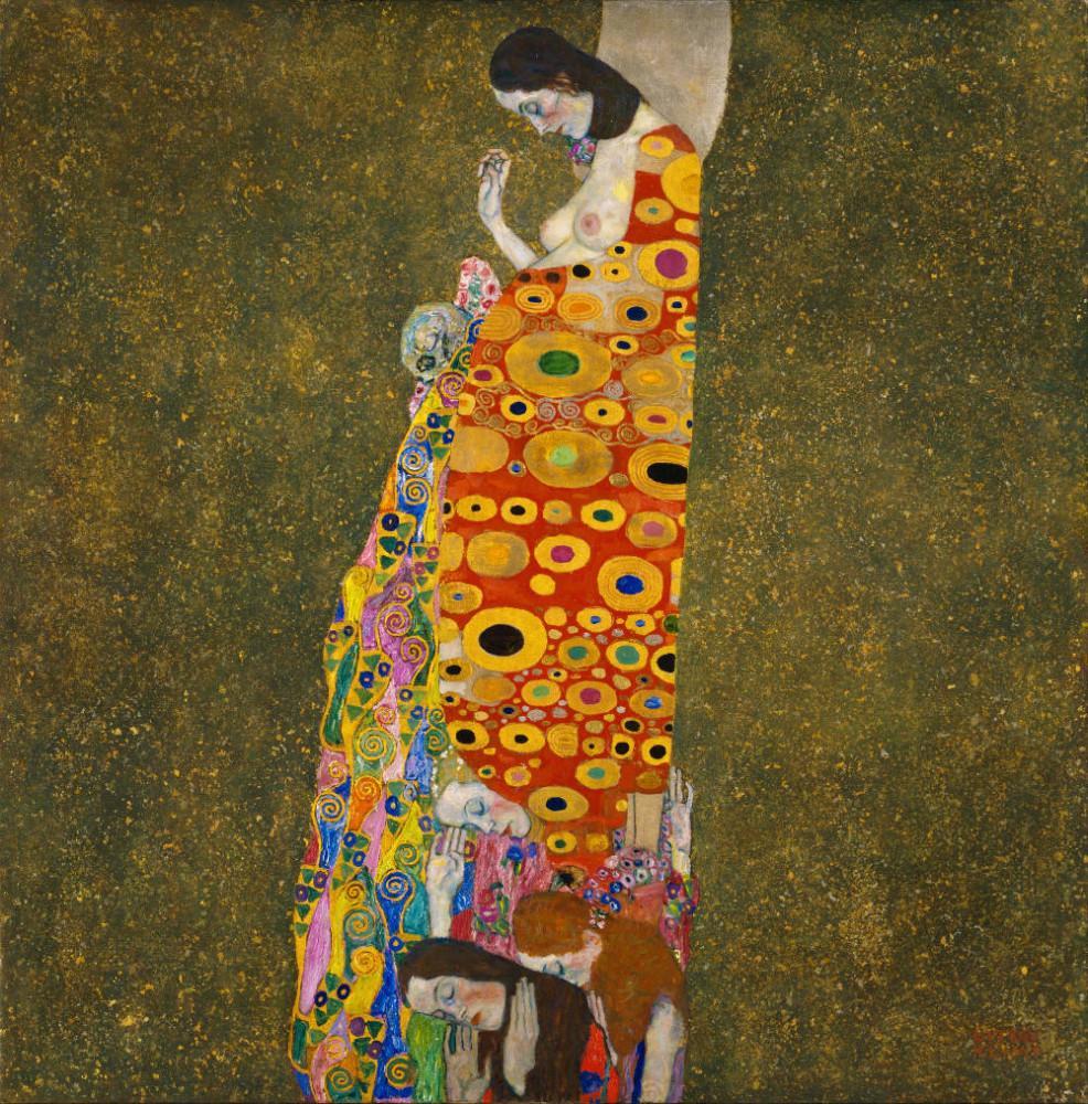 Gustav Klimt, Hope II, Figure, Gustav Klimt, kanvas tablo, canvas print sales