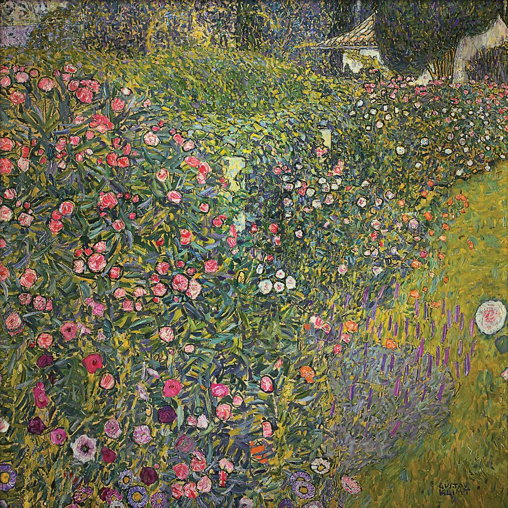 Gustav Klimt, İtalyan Bahçesi Tablosu, Kanvas Tablo, Gustav Klimt, kanvas tablo, canvas print sales