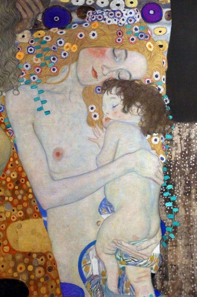 Mother and Child, Gustav Klimt, Canvas, Gustav Klimt