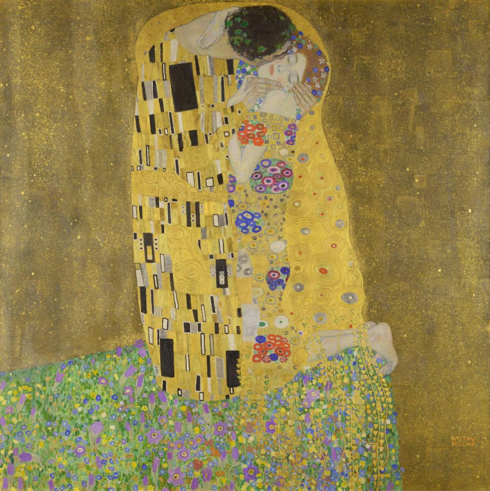 Gustav Klimt, The Kiss Paintings, Canvas, Gustav Klimt, kanvas tablo, canvas print sales