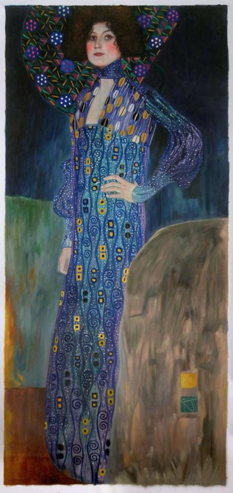 Emilie Floge Portresi,Gustav Klimt, Kanvas Tablo, Gustav Klimt, kanvas tablo, canvas print sales