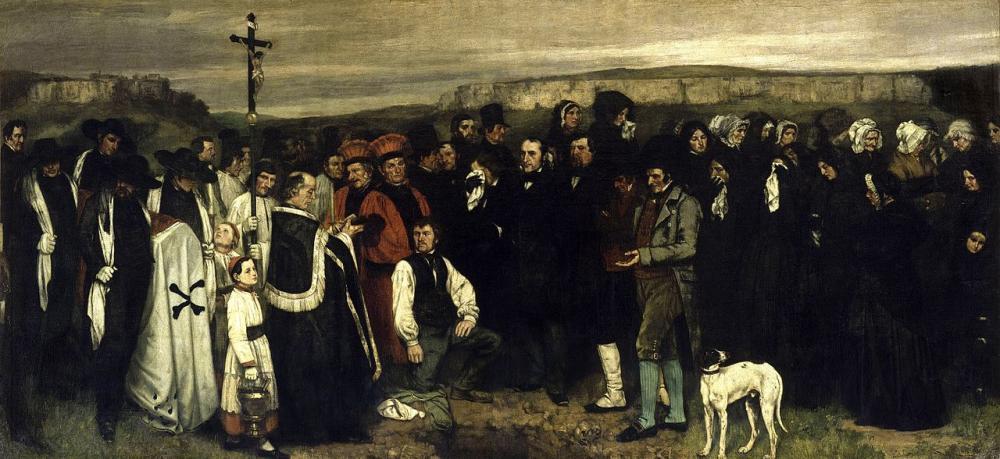 Gustave Courbet Ornans ta Cenaze Yağlıboya Tablo, Kanvas Tablo, Gustave Courbet, kanvas tablo, canvas print sales