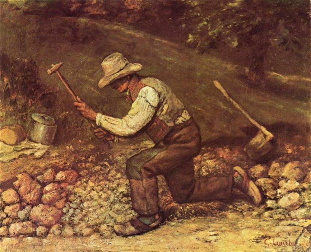 Gustave Courbet The Stone Breakers, Canvas, Gustave Courbet, kanvas tablo, canvas print sales