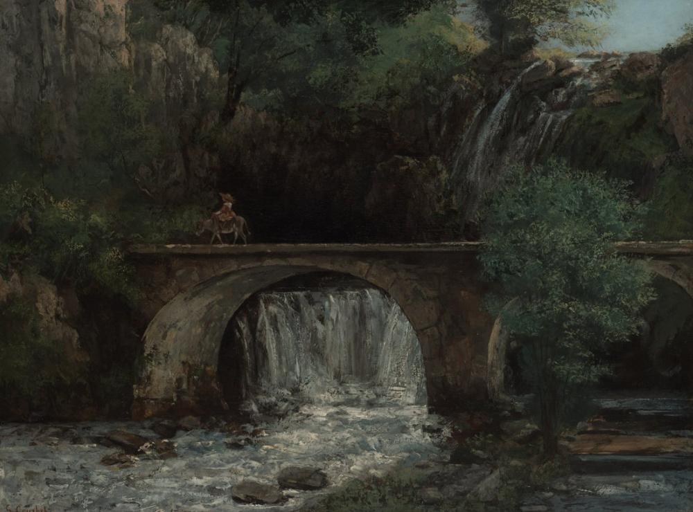 Gustave Courbet Köprü, Kanvas Tablo, Gustave Courbet, kanvas tablo, canvas print sales