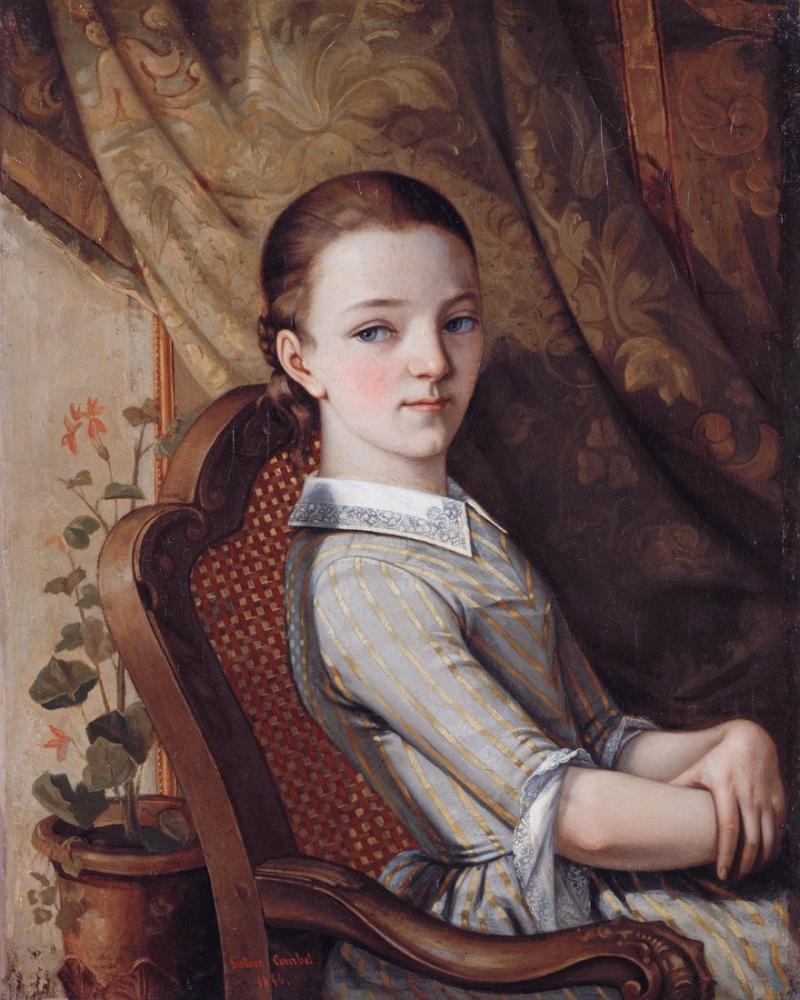 Gustave Courbet Juliette Portresi, Kanvas Tablo, Gustave Courbet, kanvas tablo, canvas print sales