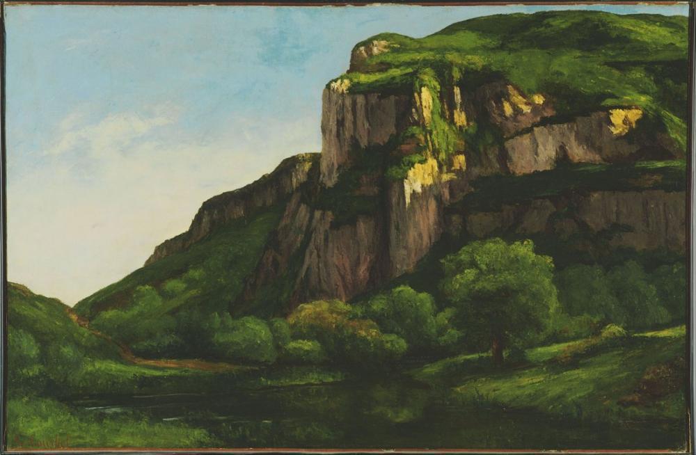 Gustave Courbet Rocks at Mouthier, Canvas, Gustave Courbet, kanvas tablo, canvas print sales