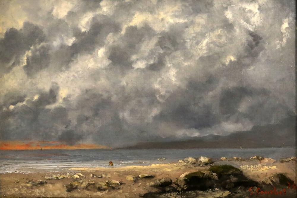 Gustave Courbet Scena in Spiaggia, Canvas, Gustave Courbet, kanvas tablo, canvas print sales