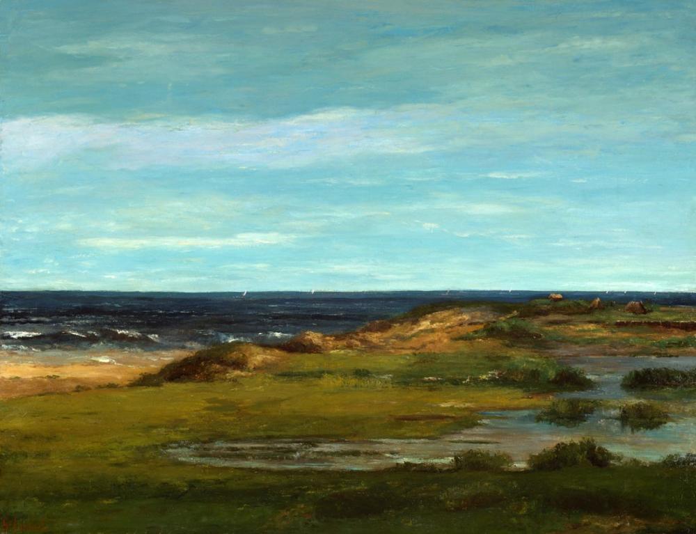 Gustave Courbet Deniz Manzarası, Kanvas Tablo, Gustave Courbet, kanvas tablo, canvas print sales