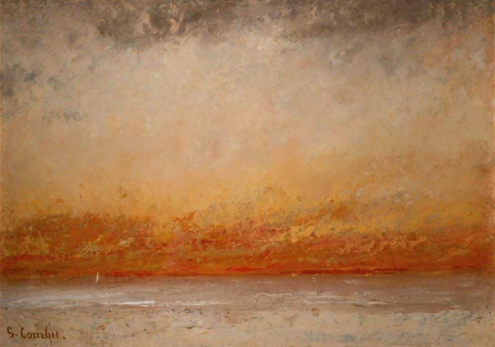 Gustave Courbet Günbatımı Denizciler, Kanvas Tablo, Gustave Courbet, kanvas tablo, canvas print sales