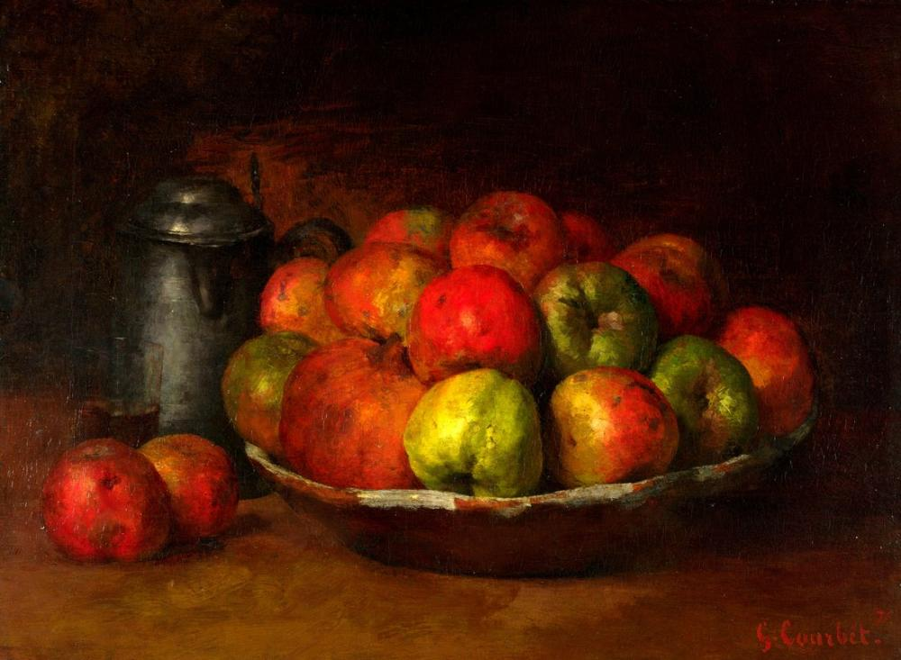Gustave Courbet Still Life With Apples And A Pomegranate, Canvas, Gustave Courbet, kanvas tablo, canvas print sales