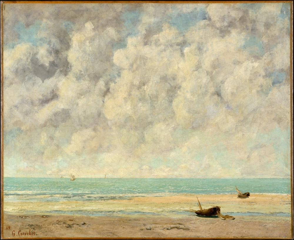 Gustave Courbet Sakin Deniz, Kanvas Tablo, Gustave Courbet, kanvas tablo, canvas print sales