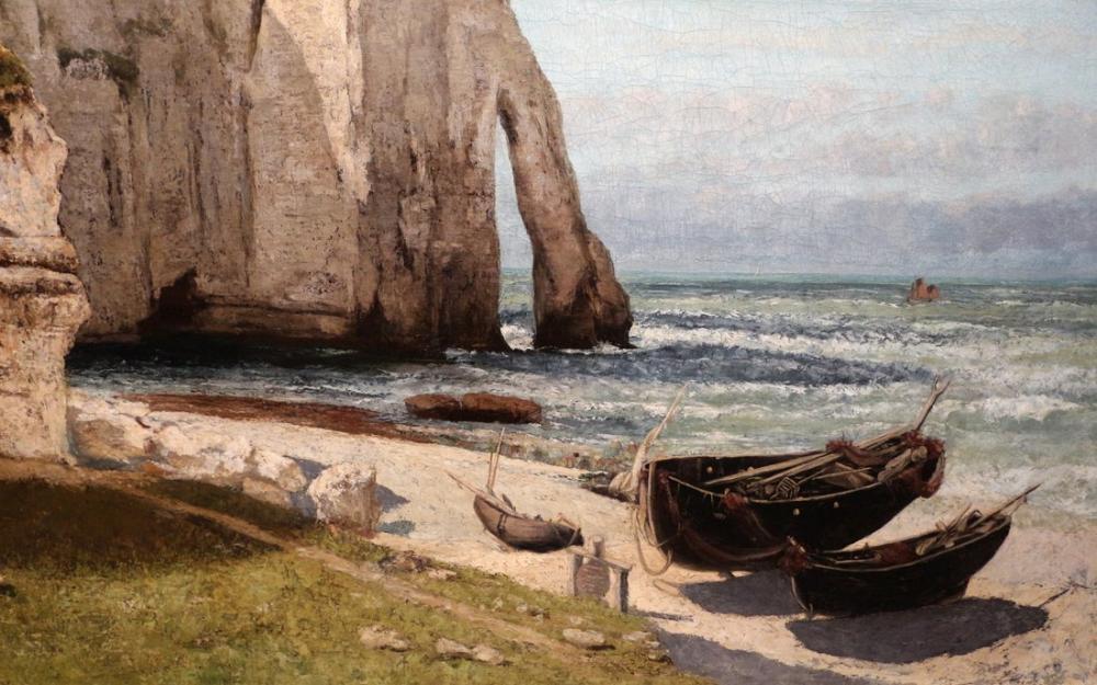 Gustave Courbet Fırtına Sonrası Etretat Kayalıklar, Kanvas Tablo, Gustave Courbet, kanvas tablo, canvas print sales