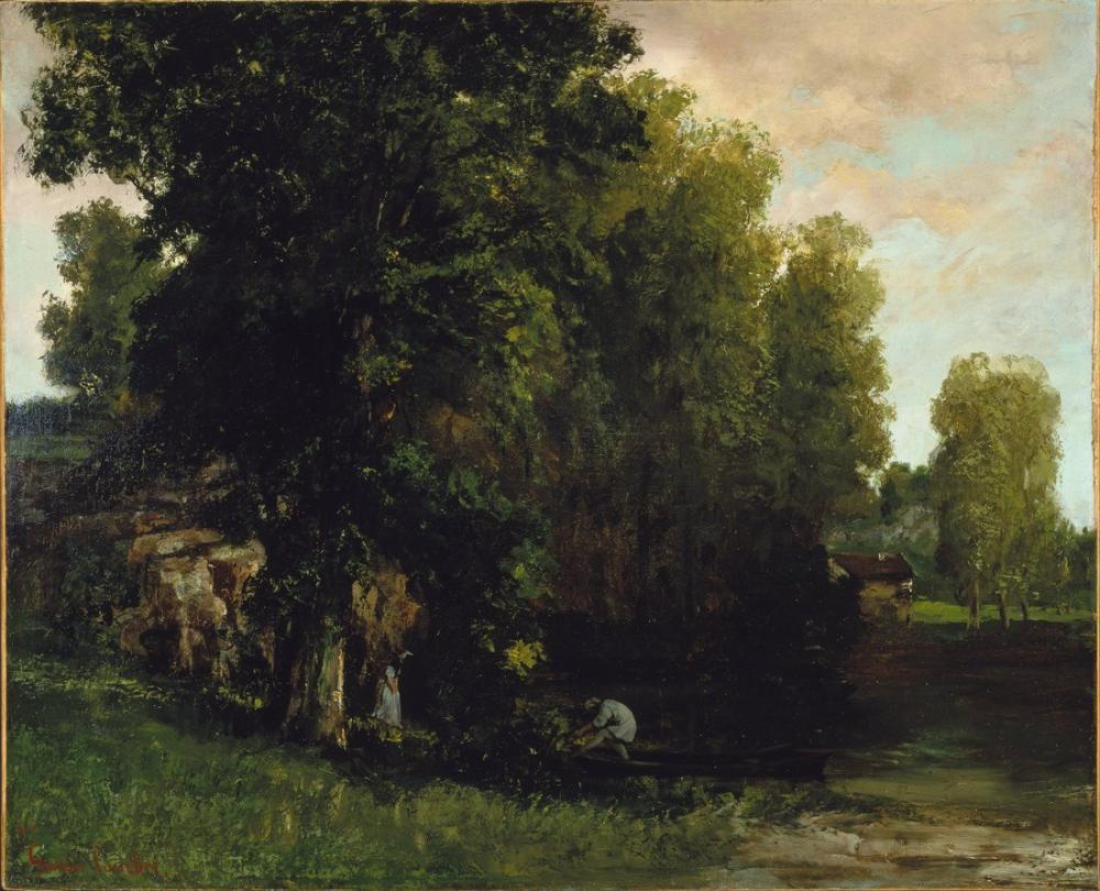 Gustave Courbet The Edge Of The Pool Au Bord De lEtang, Canvas, Gustave Courbet, kanvas tablo, canvas print sales