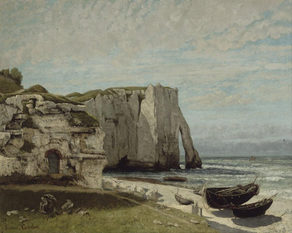 Gustave Courbet The Etretat Cliffs After the Storm, Canvas, Gustave Courbet, kanvas tablo, canvas print sales