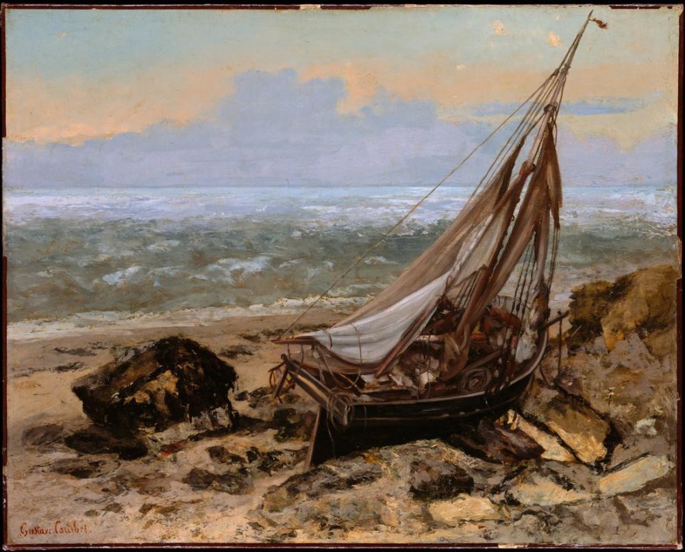 Gustave Courbet Balıkçı Teknesi, Kanvas Tablo, Gustave Courbet, kanvas tablo, canvas print sales