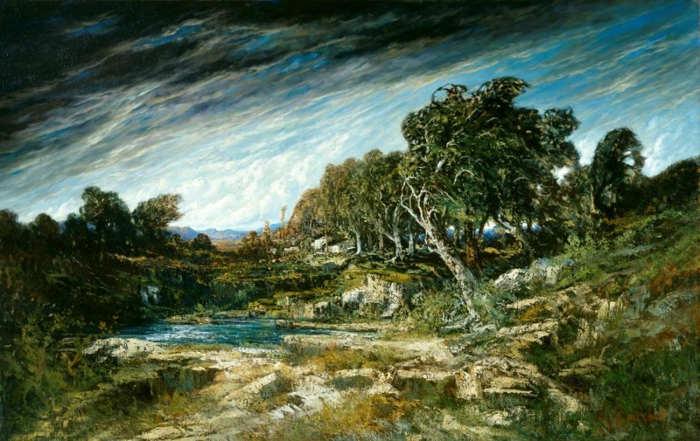 Gustave Courbet Rüzgar Fırtınası, Kanvas Tablo, Gustave Courbet, kanvas tablo, canvas print sales